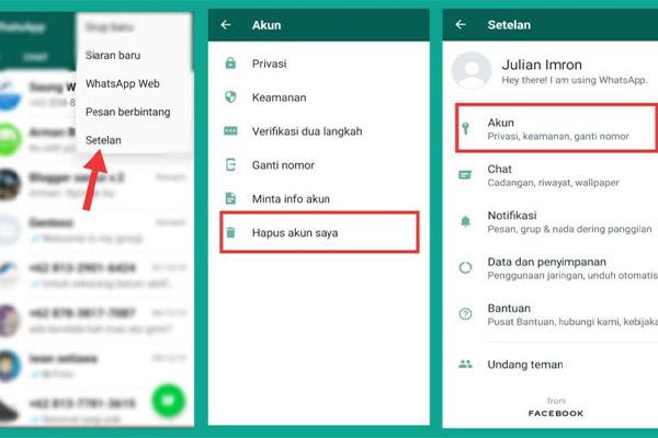Cara Menghapus Akun Whatsapp Orang Lain