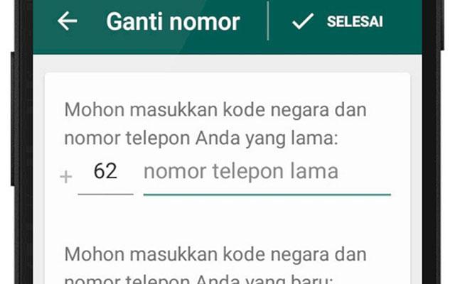 Cara Mengganti Nomor WA di Android