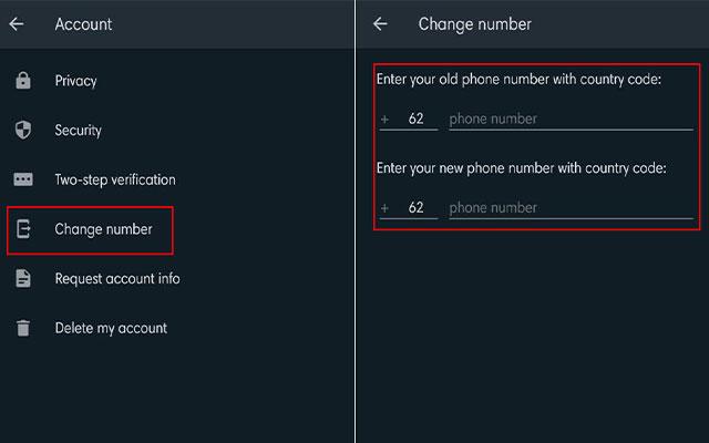 Cara Mengganti Nomor WA di iOS
