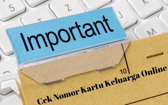 Cara Cari Nomor Kartu Keluarga Online Paling Mudah dan Terbaru