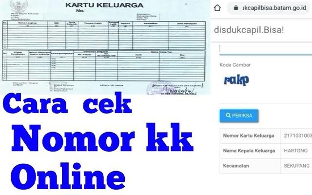 Cari Nomor KK Online Melalui Website