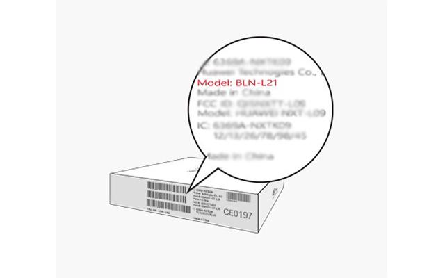 Cek Tipe HP Huawei di Label Kemasan