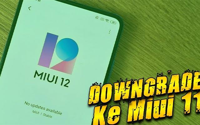 Downgrade MIUI
