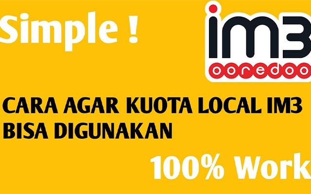 Mengatasi Paket Lokal IM3