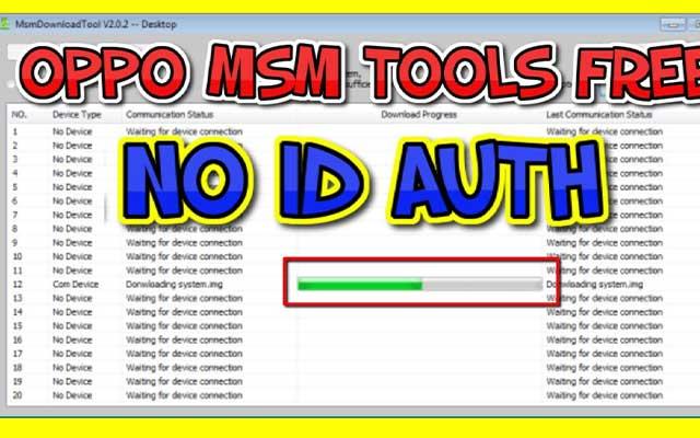 Cara Flash Oppo A3S via MSM