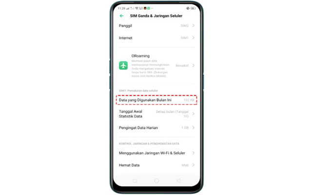 Cara Melihat Penggunaan Data Oppo A5