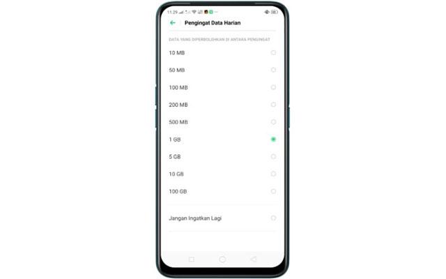 Cara Membatasi Penggunaan Data Oppo A5