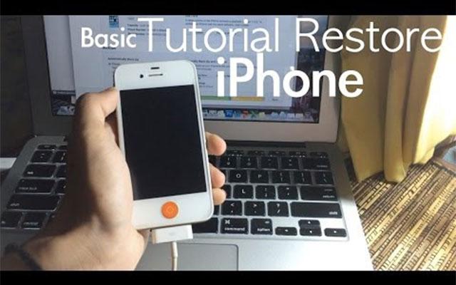 Cara Reset iPhone Dengan Komputer