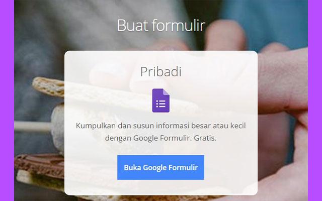 Langkah yang pertama silahkan buka Google Form.