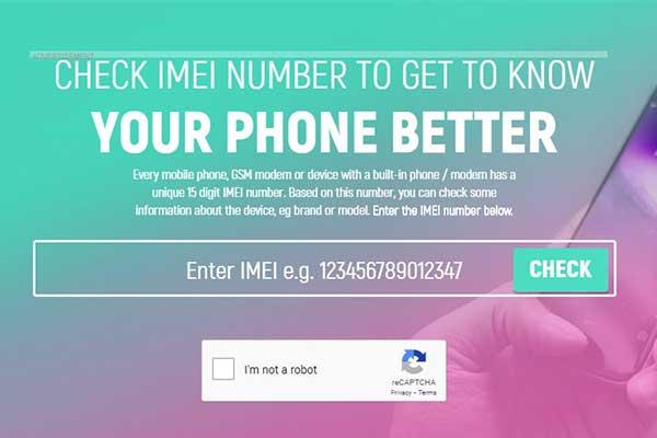 Melalui Website IMEI
