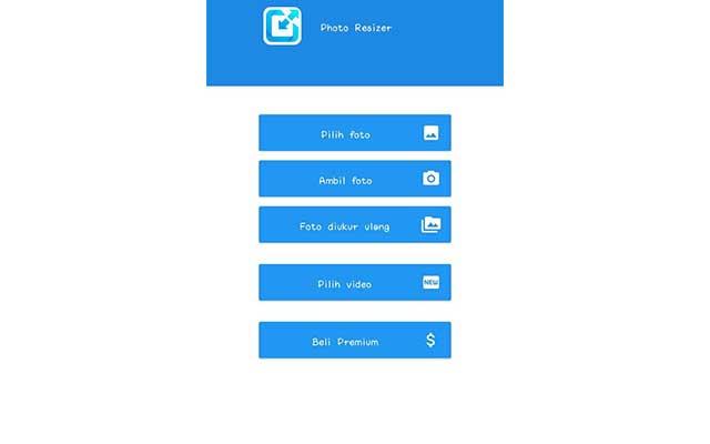Tap menu Pilih Foto