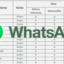 Cara Buat Tabel di WhatsApp Copy Paste Excel ke WA