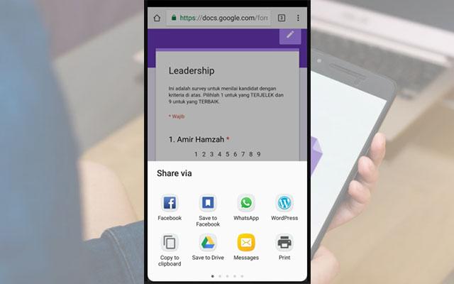 Cara Mengirim Google Form di HP