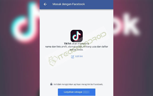 Buat TikTok Lewat Facebook