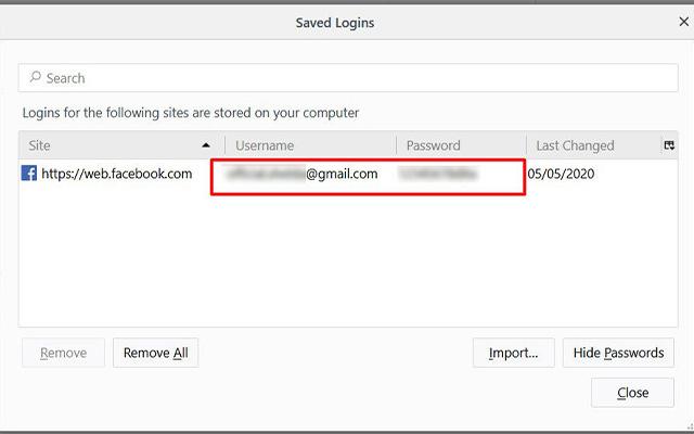 Cara Melihat Kata Sandi FB yang Belum Logout di Firefox