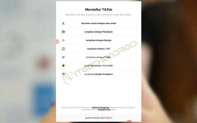 Cara Mendaftar Aplikasi TikTok