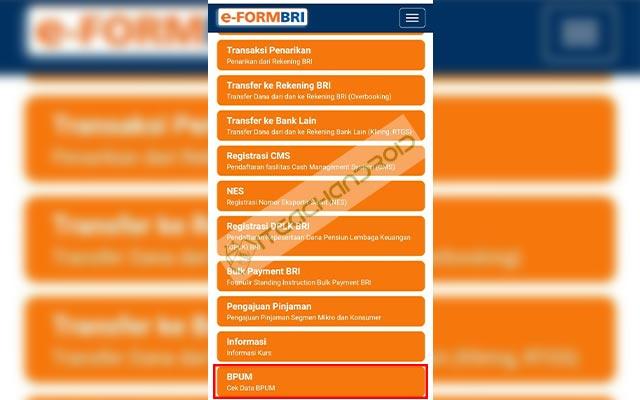 Selanjutnya scroll ke bawah dan pilih menu BPUM