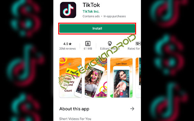 Install Aplikasi TikTok