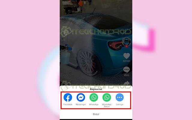 Jika sudah kamu bisa langsung membagikan video ke Facebook Messenger WhatsApp dan lainnya