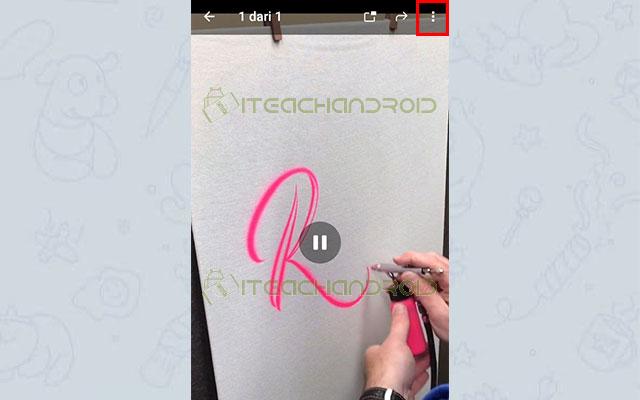 Jika sudah untuk menyimpannya ke galeri silahkan klik videonya dan pilih ikon 3 titik di pojok kanan atas