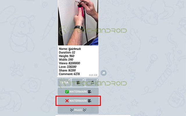 Kemudian akan muncul informasi detail video. Untuk mendownload tanpa watermark silahkan klik ikon X Watermark