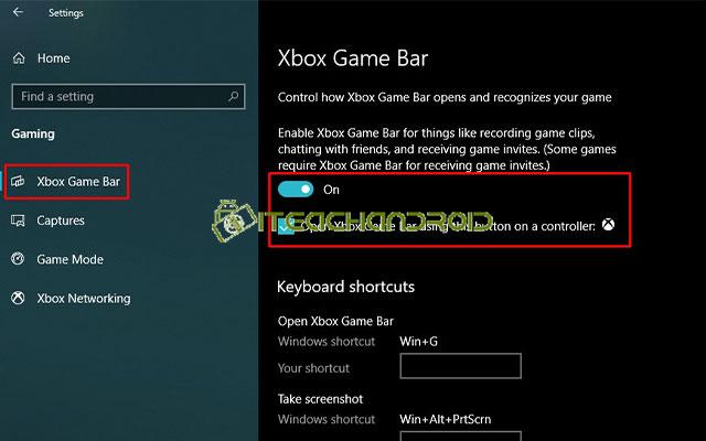 Kemudian pilih menu Xbox Game Bar