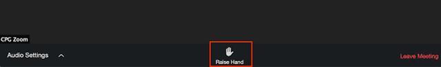 Kemudian tekan Raise Hand bergambar tangan di sebelah kanan layar