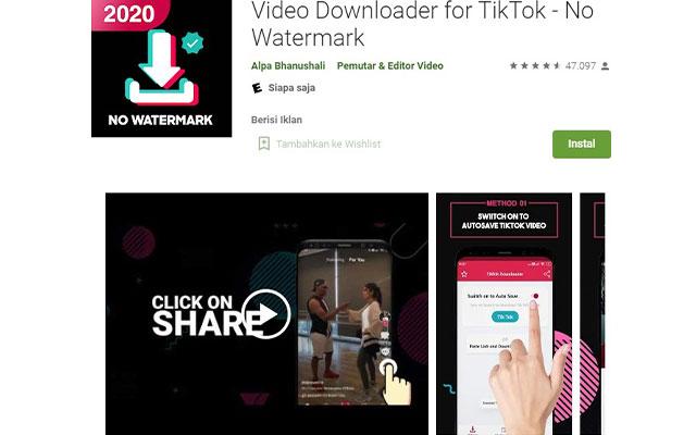 Menggunakan Aplikasi SongTik