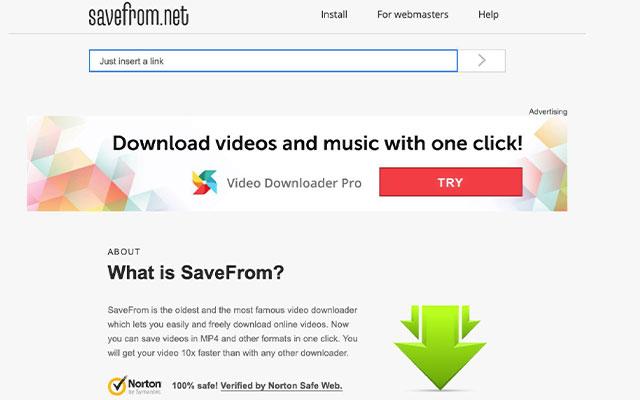 Menggunakan Savefrom.net
