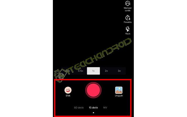 Nah untuk merekam video langsung dari TikTok silahkan klik tombol Bulat Berwarna Merah