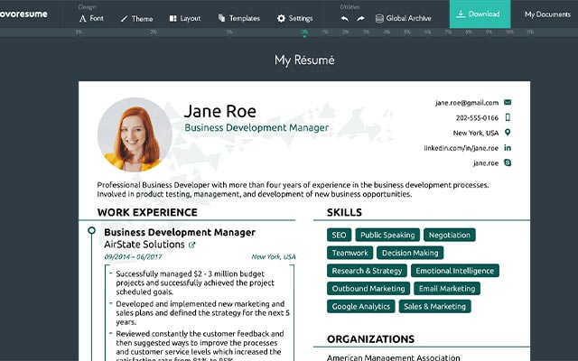 Resume Builder CV Maker PDF Template Editor