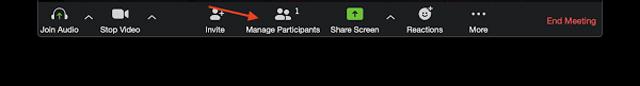Saat meeting Zoom berlangsung tekan icon Participants di tengah layar bagian bawah PC kamu