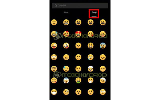 Untuk menambahkan emoji silahkan tekan emoji