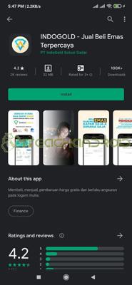 Install Aplikasi Indogold