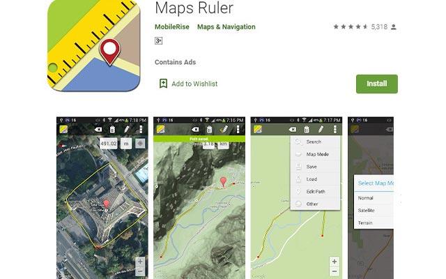 Maps Ruler