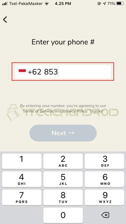 Masukkan Nomor HP