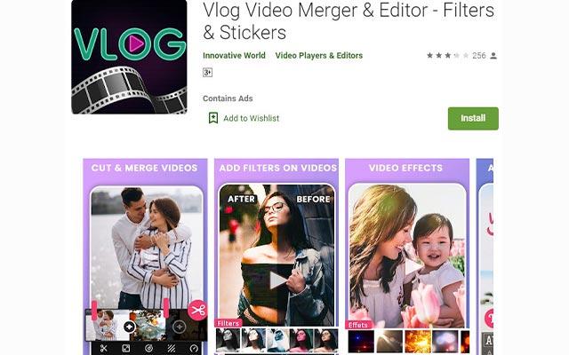 Vlog Video Merger Editor