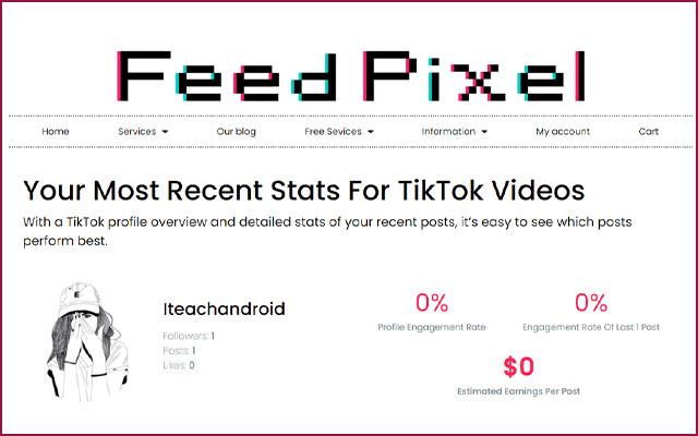 Menggunakan FeedPixel