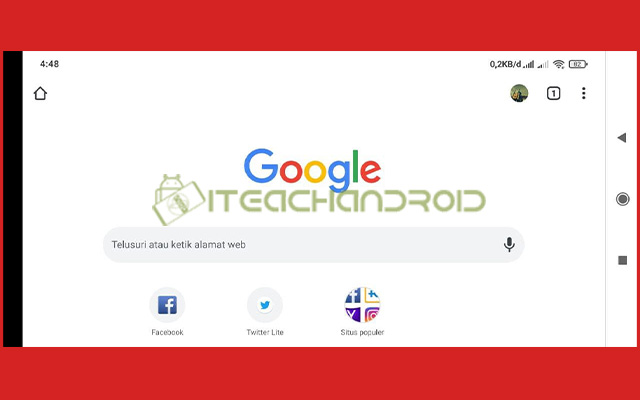 1. Buka Google Chrome di Android
