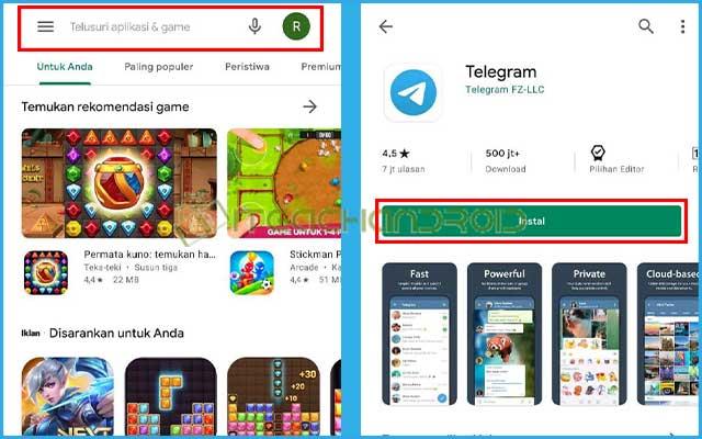 1. Download Aplikasi Telegram