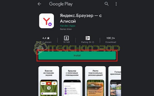 1. Install Yandex Browser