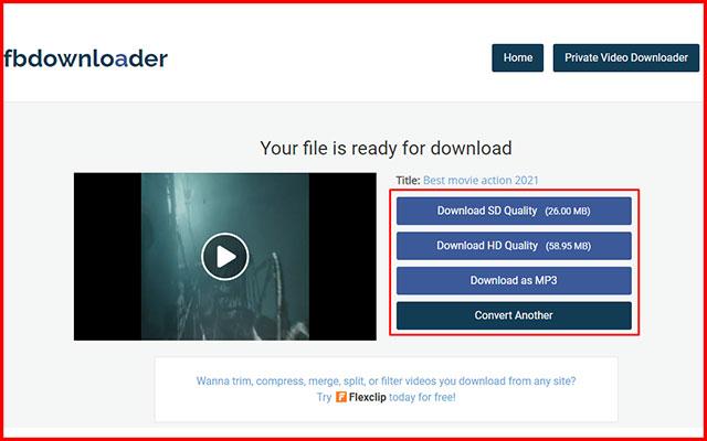 3. Menyimpan Video FB ke Galeri via FBdownloader.net