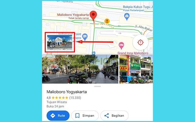 3. Tekan Pratinjau Street View