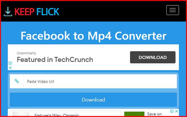 4. Menyimpan Video FB ke Galeri via Keepflick.com