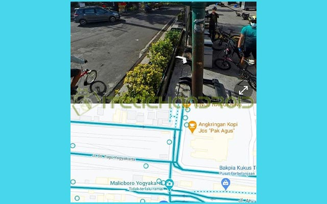 5. Street View dengan Split Screen Ditampilkan