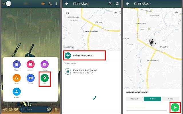 Cara Berbagi Lokasi Lewat WhatsApp
