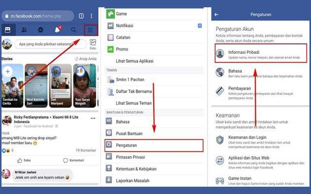 Ganti Nama FB lewat Browser HP