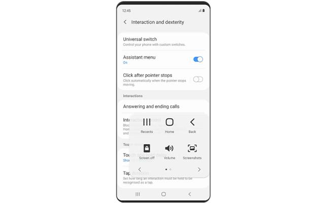 Screenshot Samsung A11 Dengan Assistant Menu