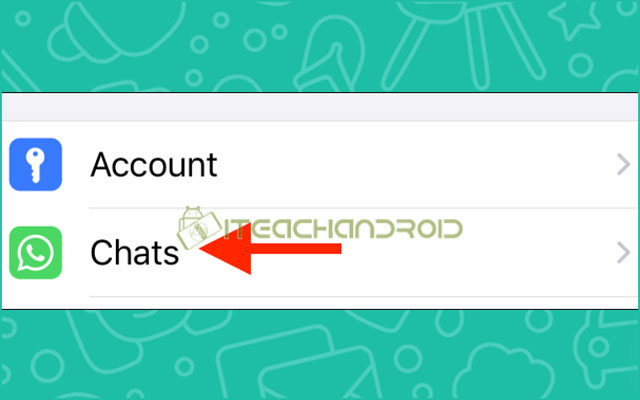 1. Untuk menonaktifkan fitur tersebut buka aplikasi WhatsApp dan buka tab Setelan. Di sini pilih opsi Obrolan