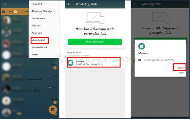 2. Logout WhatsApp Web